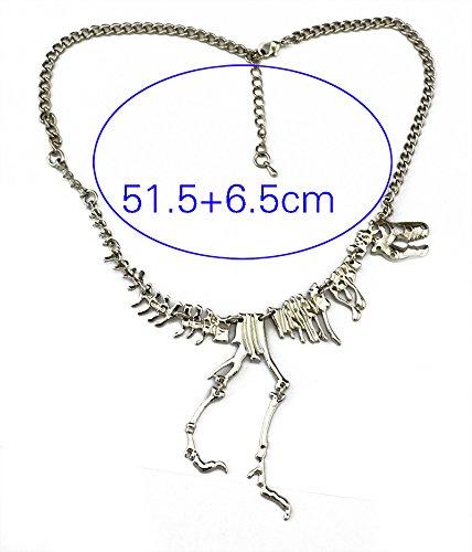 Tricess Women's Vintage Metal Dinosaur Skeleton Tyrannosaurus Pendant (Jewelry Skeleton)