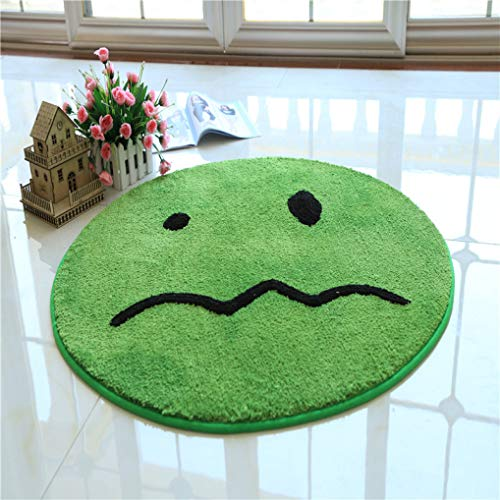 Cartoon Smile Round Carpets Parlor Bedroom Mat Emoji Home Thick Anti-Slip Rugs Floor Mat Kids Room Carpet
