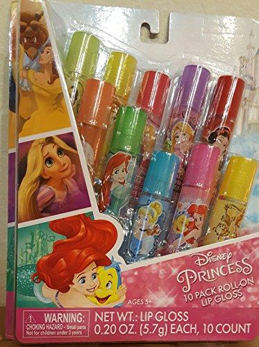 - Disney Princess 10-Pack Roll-on Lip Gloss, Flavored