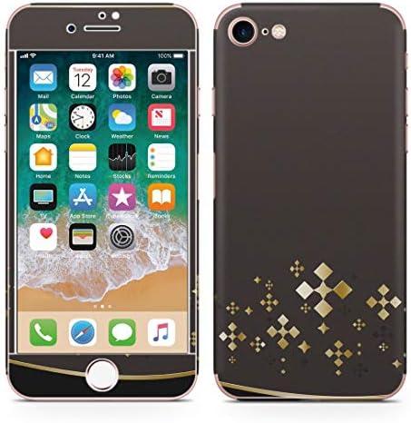 igsticker iPhone SE 2020 iPhone8 iPhone7 専用 スキンシール 全面スキンシール フル 背面 側面 正面 液晶 ステッカー 保護シール 006764 ラグジュアリー 黒 ブラック