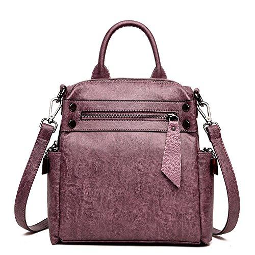 Hope Retro Frauen Multifunktionale Schultertasche Handtaschen Freizeit Reise Rucksack Damen Portable Messenger Bag Purple fCky449X51