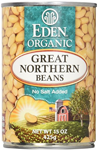 Eden Organic Great Northern Beans, No Salt Added, 15-Ounce Cans (Pack of 12) (Best Organic Chicken Brands)