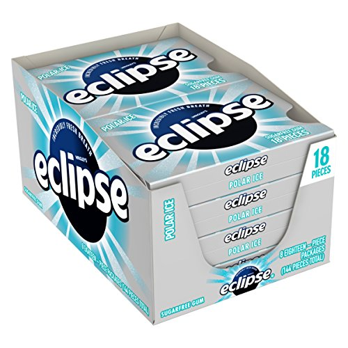 Eclipse Polar Ice Sugarfree Gum, 18 Piece (Pack of 8)