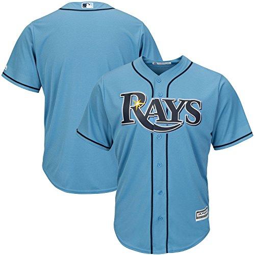 Tampa Bay Rays Word Mark Youth Cool Base Alternate Replica Jersey (Medium 10/12, Light ()