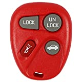 Red- QualityKeylessPlus Remote Replacement 4 Button Keyless Entry FCC ID: ABO0204T FREE KEYTAG