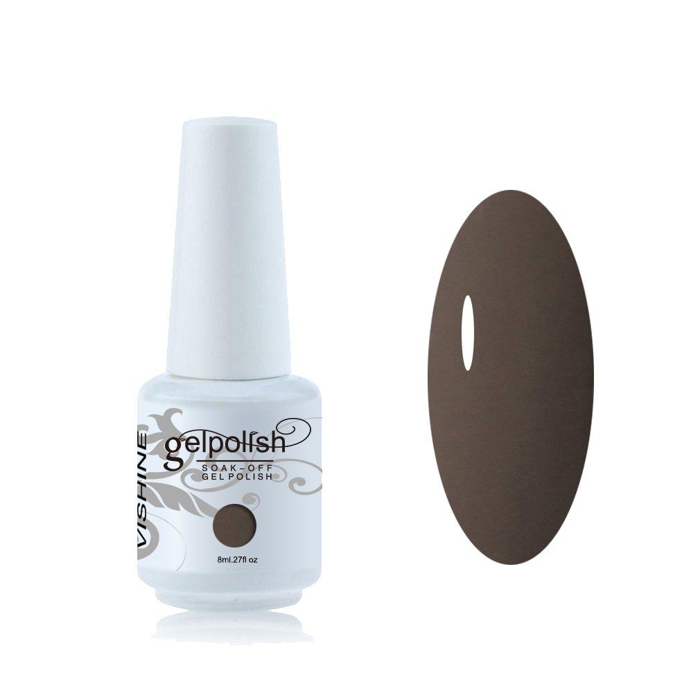 Vishine Vernis à ongles 8ml Semi-permanent GelPolish Soak-off UV LED Manucure Vernis Gels Prune #1417