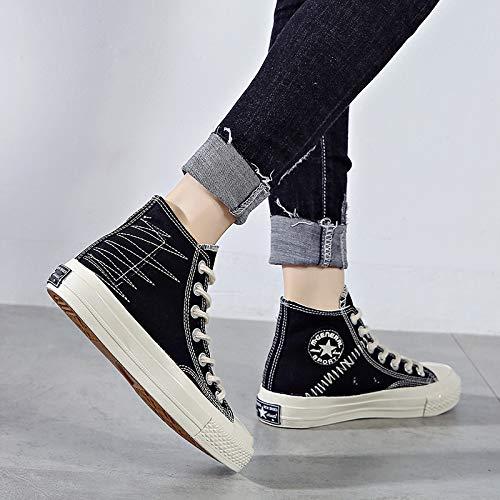 2018 Di Fondo Stoffa Scarpe Shoes Studenti Help Harajuku Donna Selvaggio Yundongxienv Piatto Da Con Stile Canvas Spring Black Sportive Fqv6gwY