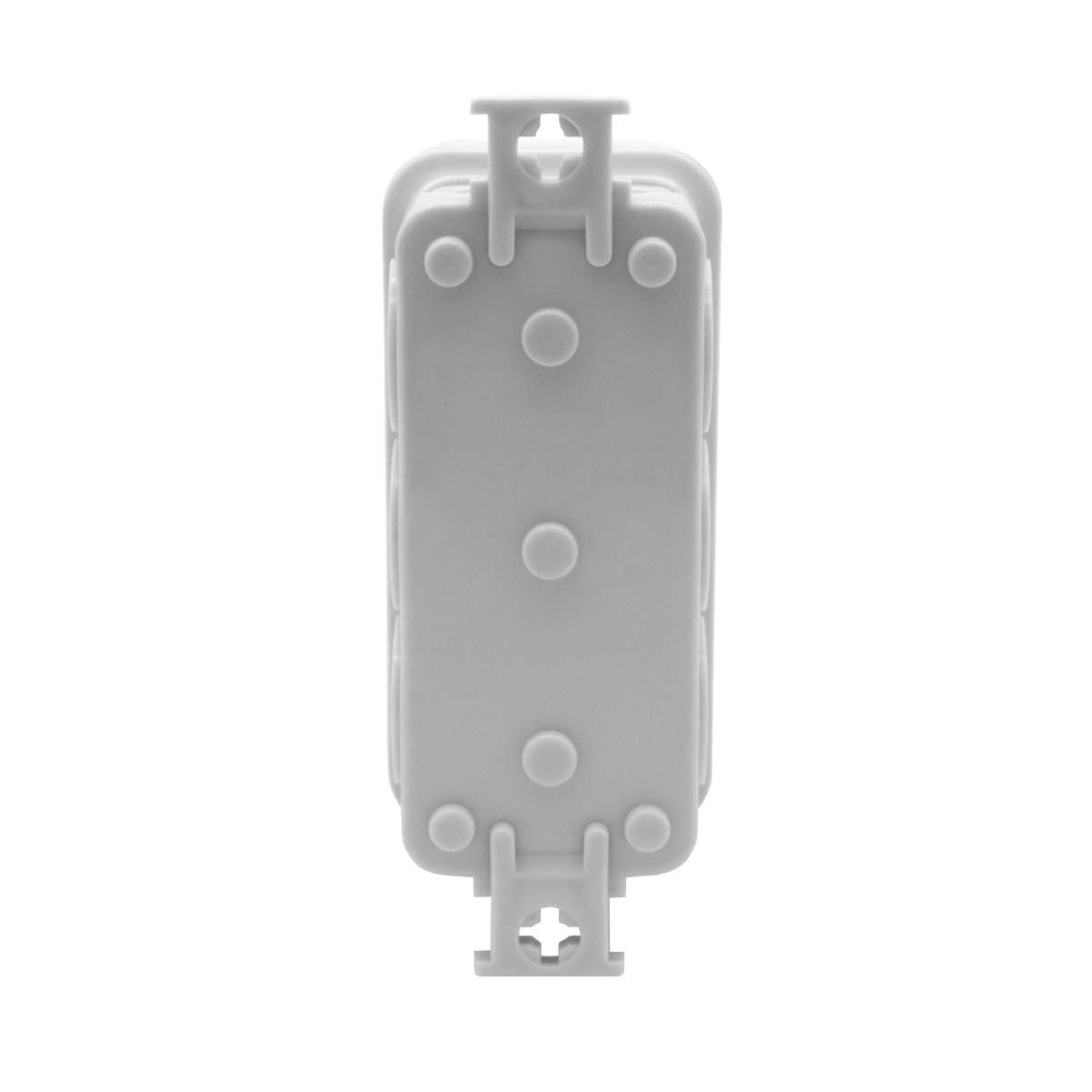 Abzweigdose Feuchtraum IP40 Dose 100 x 100 x 45 mm unterputz spritzwassergesch/ützt Kabelabzweigdose Verbindungsdosen Verteilerkasten Leergeh/äuse Verteilerdose Kunststoff leer Geh/äuse ARLI 100x100x45