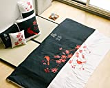 King size black and white 3 piece Duvet Cover Set, coverlet comforter 106''x92'' 2 Pillows 20''x36''. Asian inspired decorative design featuring red birds and spring flowers