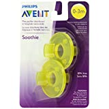 Philips Avent 2 Piece BPA Free Soothie Pacifier, Yellow, 0-3 Months