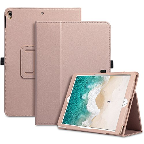 iPad Pro 10.5 Case 2017, UrbanDrama Slim Lightweight Folio Folding Kickstand PU Leather Smart Cover with Apple Pencil Holder Auto Wake / Sleep Protective Case for Apple New iPad Pro 10.5, Rose Gold Minimal Effort Christmas Lights