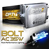 OPT7 Bolt AC HID Kit 4x Brighter - 6x Longer Life - All Colors and Sizes Simple DIY Install - 2 Yr Warranty - Bulbs and Ballasts [9007 Hi-Lo - 10K Deep Blue Xenon Light]