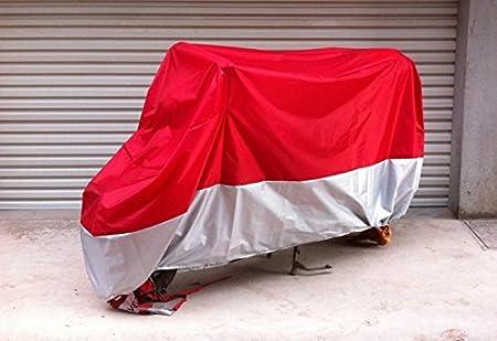 Winter wasserdicht Roller Regenschutz Sonnenschutz f/ür Alle Motorr/äder XL: 245 * 105 * 125CM Motorradabdeckung Motorrad Abdeckplane Rot und Silber