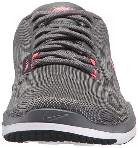 NIKE Womens Flex Supreme TR 5 Wide Shoes Grey HOT Punch White Black Size 8 by NIKE (Image #4)