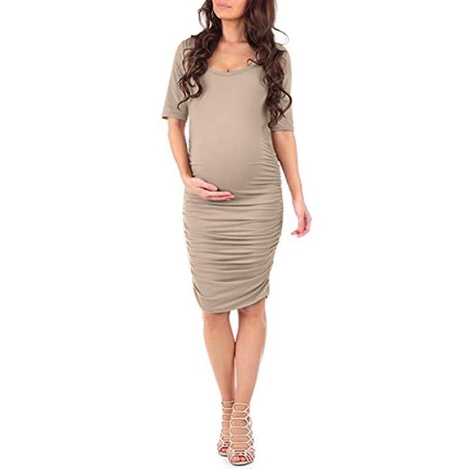 BBsmile camisa mujer verano Vestido de verano de manga corta embarazada embarazadas maternidad de verano con