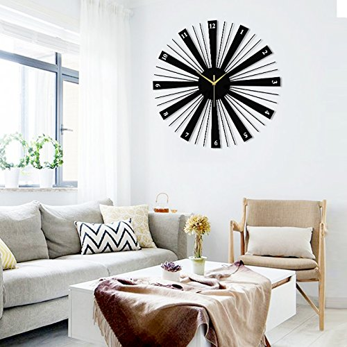 The fashion of modern living room wall clock character bedroom wall quartz clock by LTYGZ