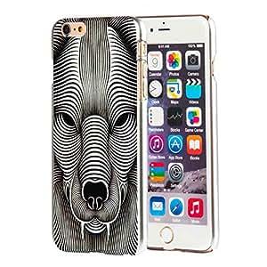 Colorido León TPU de goma protectora carcasa para Apple Iphone 6con protector de pantalla (Retail Packaging)