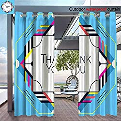 QianHe Outdoor- Free Standing Outdoor Privacy Curtain Thank-You-Greeting-Card-Thanksgiving-Design-Abstract-Geometric-Elements-Layout-Template-Card-Invitation-brochure-Flyer-Cover-Elegant-Frame-and-g