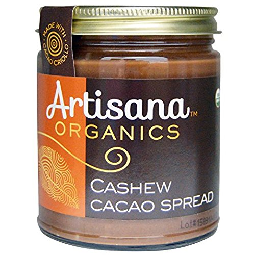 Artisana Organics - Cashew Cacao Spread, made with cacao criollo and coconut sugar, rich and thick, certified organic and non-gmo