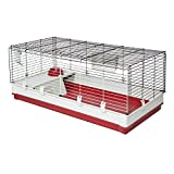 Midwest Homes for Pets 158XL Deluxe Rabbit & Guinea Pig Cage, White & Red, X-Large