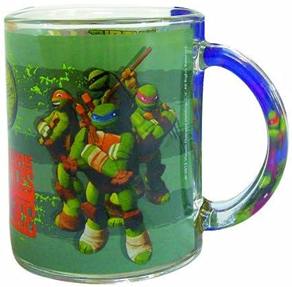 Tortugas Ninja - Taza de cristal, color verde (United Labels ...