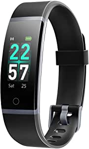 LETSCOM Fitness Tracker with Heart Rate Monitor, Color Screen Activity Tracker Watch, IP68 Waterproof Pedometer Sleep Monitor Step Counter Calorie Counter for Women Men Kids (Black)