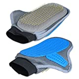 3-in-1 Dog & Cat Brush Glove Pet Massager Hair Remover Pet Bathing Brush Adjustable Eco-Friendly Safe Pet Grooming Glove