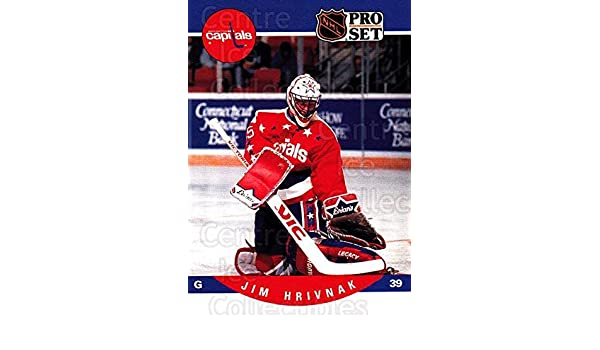 c5008fe37b4 Amazon.com  (CI) Jim Hrivnak Hockey Card 1990-91 Pro Set (base) 646 Jim  Hrivnak  Collectibles   Fine Art