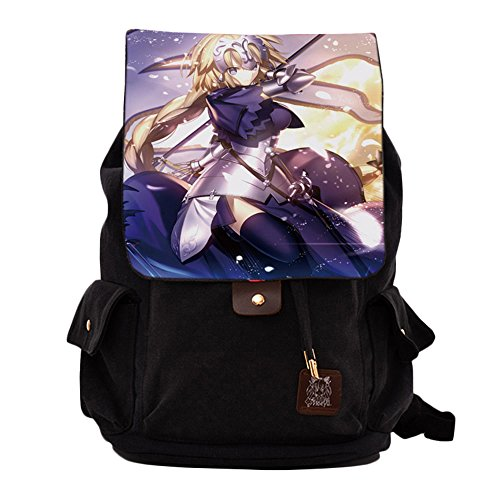 Rain's Pan Anime Fate Grand Order Cosplay Canvas Backpack Shoulder Bag Laptop Bag Black (Order Cosplay)