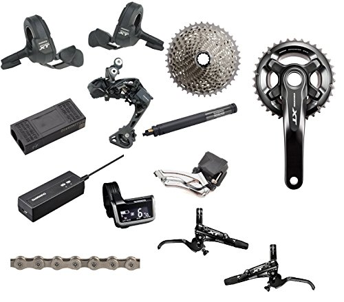 SHIMANO XT Di2 2X 170mm Complete Groupset with Brakes