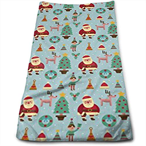 Cotton Santa Elf Reindeer Christmas Tree Bath Towels for Bathroom-Hotel-Spa-Kitchen-Set - Circlet Egyptian Cotton - Highly Absorbent Hotel Quality Towels 12
