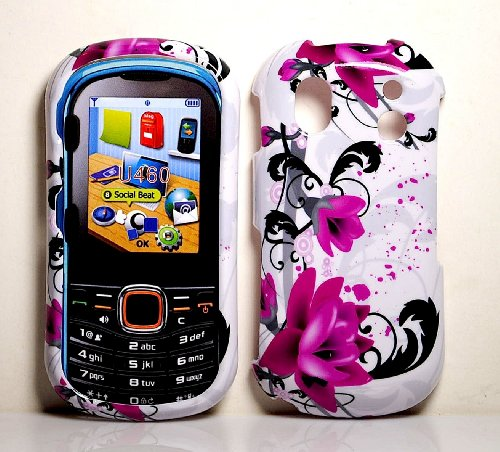 - Purple Rose Snap on Hard Protective Cover Case for Samsung Intensity 2 U460 + Microfiber Pouch Bag