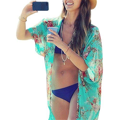 each Cover up Bikini Swimsuit SwimwearCrochet Dress Fashion Floral Print (Dress Bikini Cover Up)
