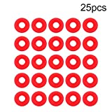 Grolsch Gasket - 25Pcs Red Silicone Grolsch Gaskets for Swing Flip Top Bottle Home Brew Beer Bottle Seals