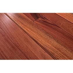 "20.92SF AMERIQUE Prefinished Solid Exotic Teak Natural Hardwood Flooring 3-1/2"" X 3/4"" X RL(1FT~6FT), Premium Grade, 20.92sf/ctn (One Carton)"
