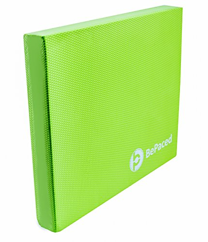 Balance Pad – BePaced – Balancing Cushion - Balance trainer for stability and rehab. Thick Eco-Friendly Foam Pad for physical therapy (Green, Large)