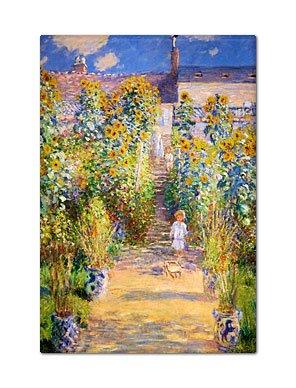 The Artist's Garden at Vétheuil Claude Monet Painting Fridge Magnet