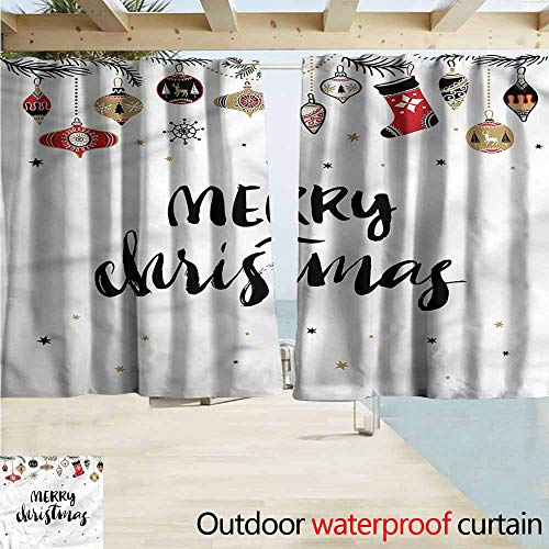 MaryMunger Custom Curtain Christmas Modern Inspiring Quote Rod Pocket Energy Efficient Thermal Insulated W55x39L Inches