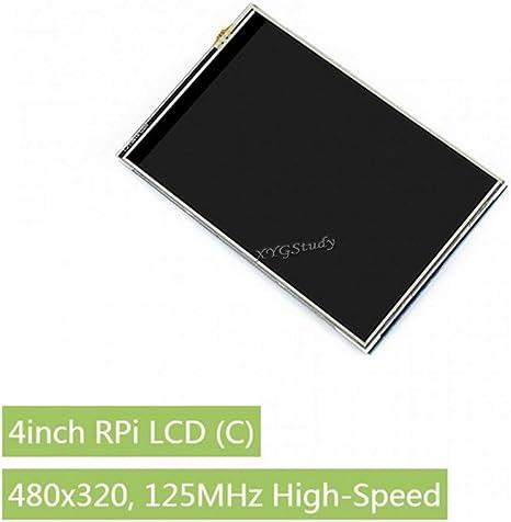 4inch RPi LCD 4 inch 480x320 125MHz High-Speed SPI Resistive Touch TFT Screen Display Supports Raspberry Pi 4B//3B+//3B//2B//B+ Raspbian FBCP Play Video Game @XYGStudy C