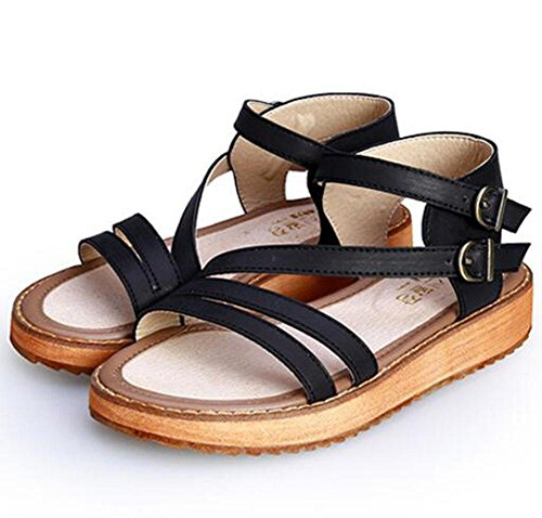 KUKI Mode dicken Boden lose Kuchen Roman große Größe mit Frauen Sandalen , 2 , US8 / EU39 / UK6 / CN39