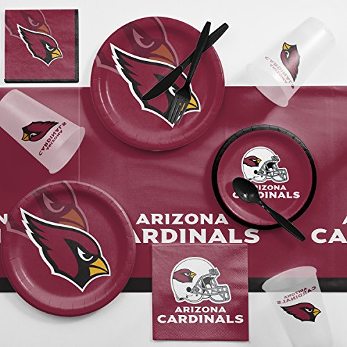 Creative Converting Arizona Cardinals Game Day Party Supplies Kit, Serves 8