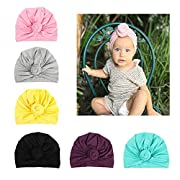 Xinshi Girls Baby Cotton Cloth Turban Kont Toddler Tabbit Ears Hat Kids Set Head Cap