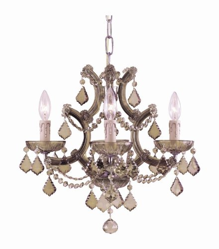 Bohemian Crystal 4 Light Candle Chandelier Crystal Type: Golden Teak ()