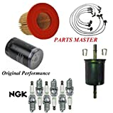 8USAUTO Tune Up Kit Air Oil Fuel Filters Wire Spark Plug Fit FORD MUSTANG V6 3.8L 1998-2004
