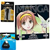 Prismacolor Premier Colored Pencils 23-Count Manga Colors, Triangular Scholar Pencil Eraser and Premier Pencil Sharpener