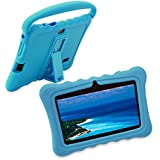 Kids Tablet PC Case, Shock Resistant Drop Proof Case Silicone Cover with Handle and Kickstand for Veidoo 7 inch Kids Tablet PC Q88 (Blue)