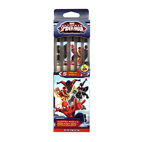 Marvel Spider-Man Smencils 5-Pack of HB #2 Scented Pencils -