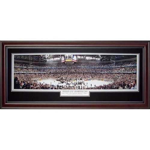 (Tampa Bay Lightning (Stanley Cup Champions 2004) Deluxe Framed Panoramic Photo)