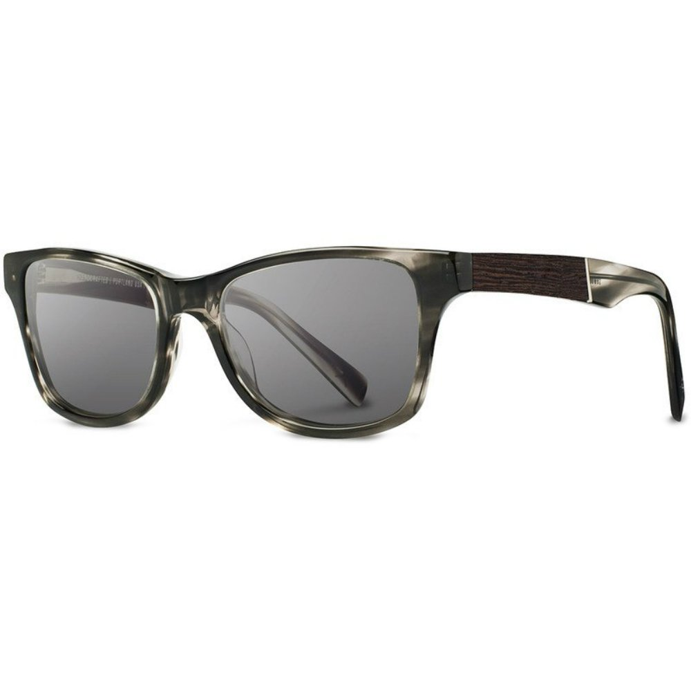 Shwood - Canby Acetate, Sustainability Meets Style, Pearl Grey/Ebony, Grey Lenses