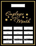 Geographics Employee of the Month Award Kit, 8.5 x 11 Inches, Black, 13 Pack (48613)